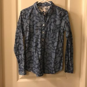 Long sleeve floral patterned button up